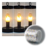 E27 Leuchtmittel mit Flammeneffekt mit transparentem oder weißem Glaskörper