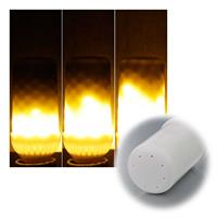 Das E27-Leuchtmittel imitiert eine Flamme