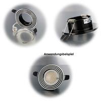 Runde Einbaurahmen in Zweifarben-Optik für MR16-Leuchtmittel