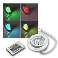 LED Einbaustrahler | Flat-30 | RGB | Weiß | Fernbedienung