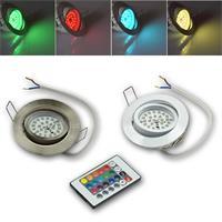 Komplett-Sets LED-Einbaustrahler in 3 Leucht- und 2 Gehäusefarben