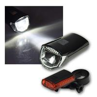 Bicycle LED lighting set CFL 30 pro, 30Lux