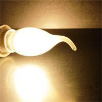 E14 Windstoß Kerzenlampe mit warmweißen Filament-LEDs