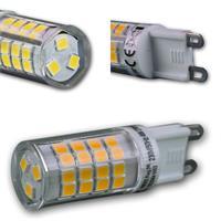 G9-Stiftsockel mit 4, 6 oder 8W SMD LEDs