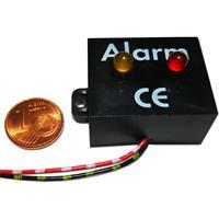 elektronische Alarmanlagen-Attrappe mit roter und gelber LED