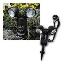 LED Gartenleuchte 6W mit Sensor + Timer 600lm IP44