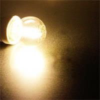 LED Leuchtmittel in warm weiß mit klarer Glasabdeckung
