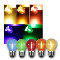 Mixed colours Filament LED bulbs | set of 5 |  E27 | 0,7-0,9