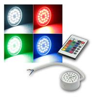 LED Leuchteneinsatz | Flat-30 | RGB | 50mm | Fernbedienung