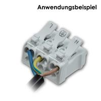 Leuchtenklemme für Belastbarkeit bis 450V AC und 16A