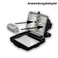 R7s LED Energiesparlampe für 230V mit ca. 17W Verbrauch
