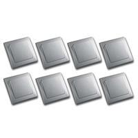 DELPHI 8er Set Wechsel-Schalter silber 250V~/ 10A