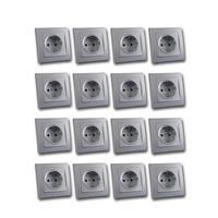 DELPHI contact sockets, set of 16, silver