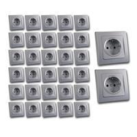 DELPHI contact sockets, set of 32, silve
