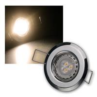 MR11 LED Einbauspot Chrom warmweiß | 3er Komplett-Set