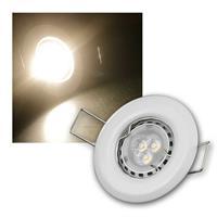 MR11 LED Einbauspot Weiß warmweiß | 8er Komplett-Set