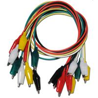 croco cable set of 10, 5 colors, test clips