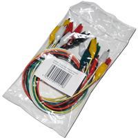 Kroko-Schnellverbinder-Set, je 450 mm lang, farbige Isolierung