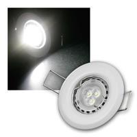 MR11 LED Einbauspot Weiß kaltweiß | 8er Komplett-Set