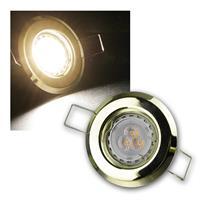 MR11 LED Einbauspot Messing warmweiß | 8er Komplett-Set