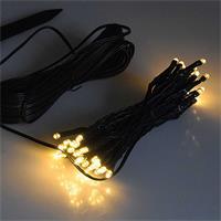 LED Lichterkette mit Dämmerungsautomatik und warmweißen LEDs