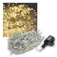Lichterkette Außen, 600 LED warmweiß, 230V, IP44