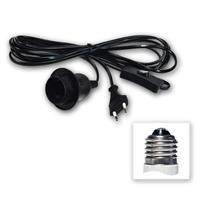 Netzkabel mit Schalter | E27 Fassung | schwarz