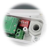 einfache Installation und einfacher Anschluss der Kabel dank Klemmverschlüsse