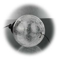 LED Klangspiel mit Glaskugel in Bruchglasdesign