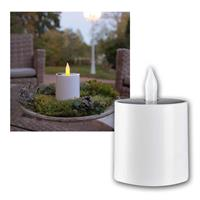 Solar LED candle | outdoor candle with flickering effect