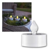Solar LED Teelichter | flackernde Flamme | Deko-Teelicht