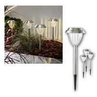 LED solar lights Palma | Set of 4 | stainless steel