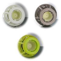 LED Solar Laterne in Weidenoptik in weiß, braun oder grün für außen