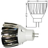 MR11 Energiesparlampe mit einer Länge von 47,5mm und 35mm Durchmesser