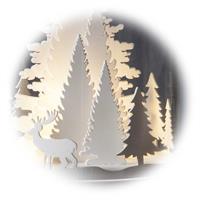 Kleine Winterlandschaft unter Echtglas mit Liebevoll gestaltete Details