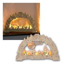LED light arch | wood nature | battery