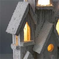 LED Weihnachtshaus mit Timer und Batteriebetrieb