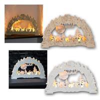 LED Christmas light arch ERDING | nature/white | battery