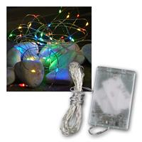Light Chain Dew Drop | 40 LED bunt | timer & battery