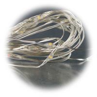 SMD LEDs im Abstand von 10cm auf dünnen Draht