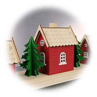 LED Weihnachtslichterhäuser auch rückseitig schön verarbeitet