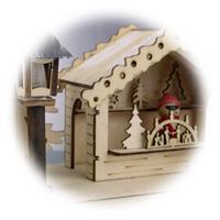 LED Dekohäuser mit filigrane Holzarbeit und liebevollen Details