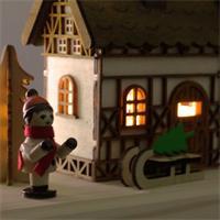 LED Weihnachtsdorf mit stimmungsvoller Atmosphäre für ein festliches Flair