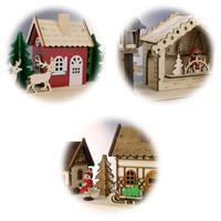 Detailreich gestaltete LED Weihnachtshäuser in 3 Motiven