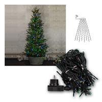 Baumvorhang 160 bunte RGB LEDs Lichterkette für Außen