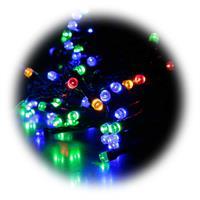 160 bunte LEDs verteilt auf 8 Lichterketten von je 2 Metern