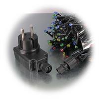 LED Lichterkette für Nadelbäume zum Stromanschluss an 230V