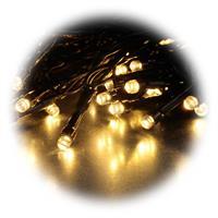 160 warmweiße LEDs verteilt auf 8 Lichterketten von je 2 Metern