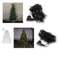 LED tree curtain | colourful/warm white | 160 LEDs | 230V
