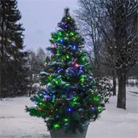 LED-Baumvorhang mit 160 warmweißen oder bunten LEDs